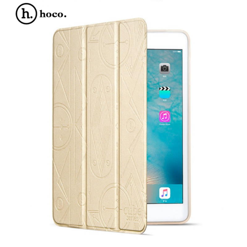 iPad mini 4 HOCO Cube Series Smart Cover Med Sleep Funktion - Guld