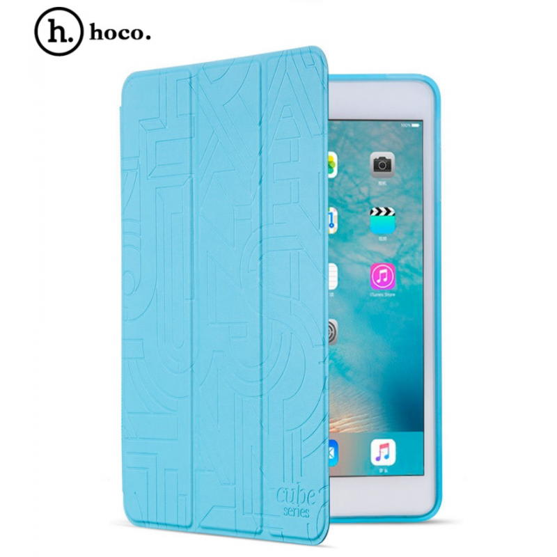 iPad mini 4 HOCO Cube Series Smart Cover Med Sleep Funktion - Lyseblå