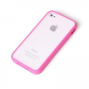 iPhone 4 / iPhone 4S TPU Cover 2 in 1 - Rosa