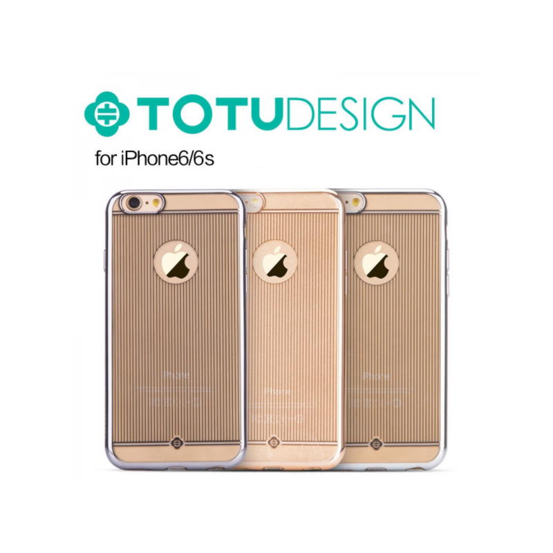 iPhone 6 / 6S Original TOTU Electroplating TPU Soft Cover - Guld