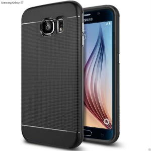 Samsung Galaxy S7 TPU Hybrid Cover - Blå / Sort