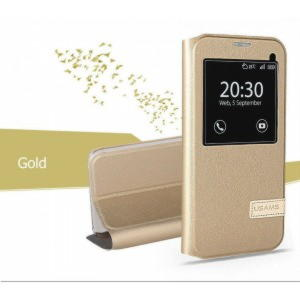 Samaung Galaxy S7 Usams Muge Series View Cover - Guld