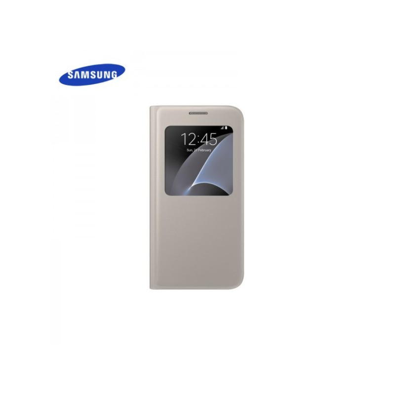 Samsung Galaxy S7 S View Cover - Guld