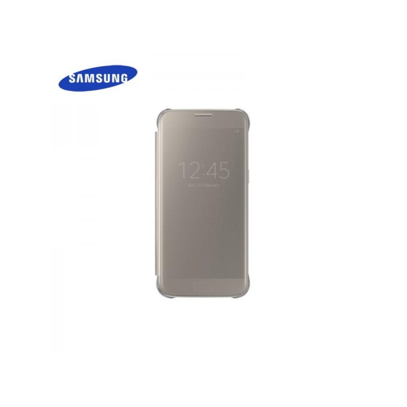 Samsung Galaxy S7 Clear View Cover - Guld