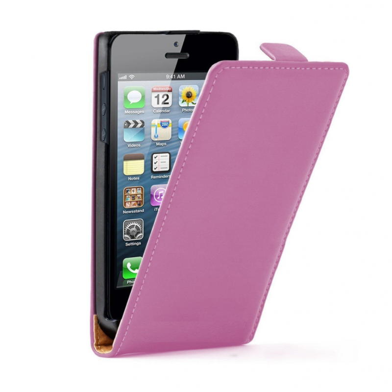 iPhone 5 / 5S / SE Flip Cover - Lilla