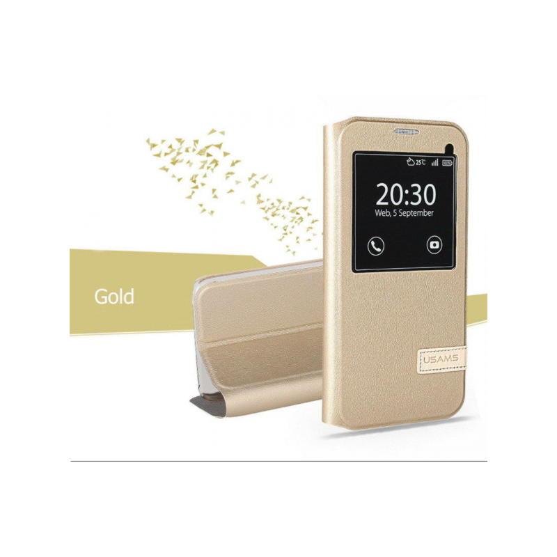 Samsung Galaxy S7 Edge Usams Muge Series View Cover - Guld