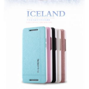 HTC One Mini M4 KLD Iceland Series Flip Cover - Hvid