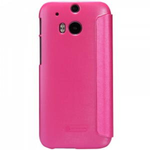 HTC One M8 Sparkle S View Cover - Rosa