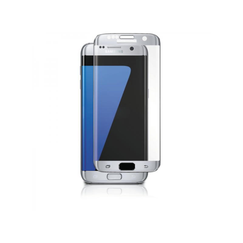 Samsung Galaxy S7 Edge Panzer Tempered Glass F-F Curved - Sølv