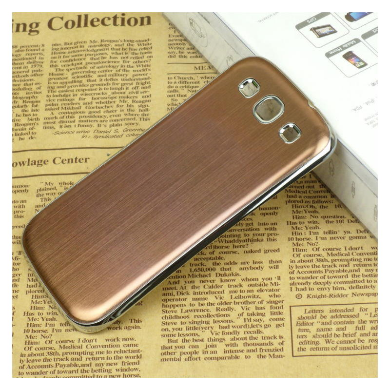 Samsung Galaxy S3 Metal Cover - Brun