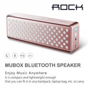 Original ROCK Mubox Sreries Bluetooth Højtaler / Speaker - Rosaguld