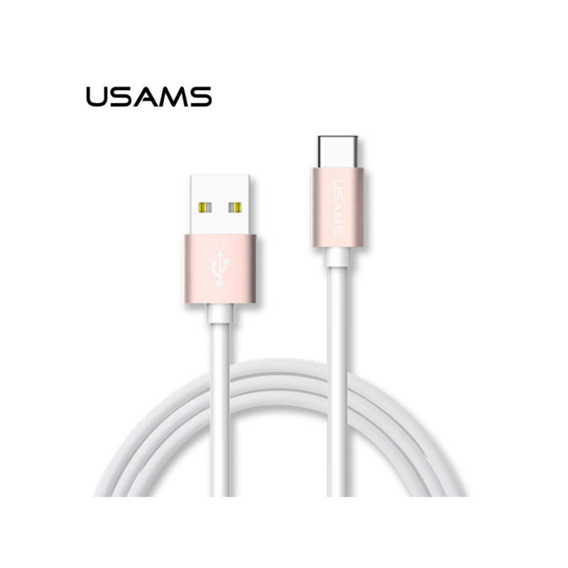 USAMS Data Kable USB TYPE-C 1m - Guld
