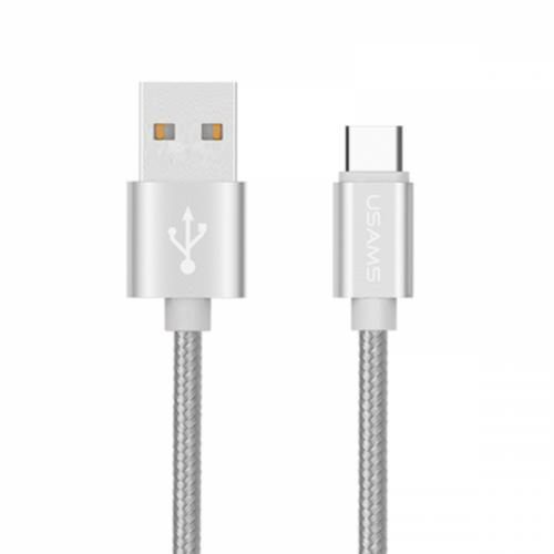 USAMS Data Kable USB TYPE-C 1m - Sølv