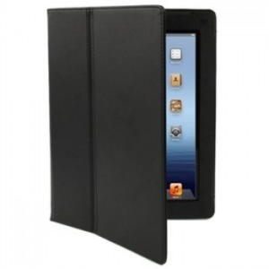 iPad 2, 3 Og iPad 4 Folio Læder Cover - Sort