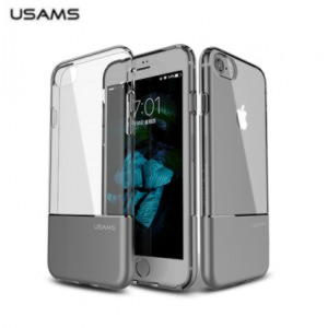 iPhone 7 / iPhone 8 Usams Ease Series TPU Cover - Grå / Gennemsigtig