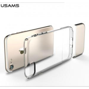 iPhone 7 Usams Ease Series TPU Cover - Guld / Gennemsigtig