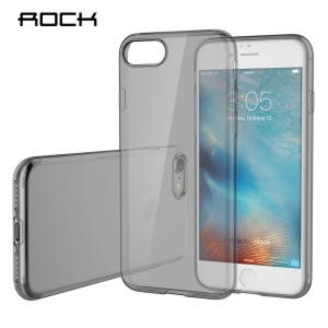 iPhone 7 ROCK Gennemsigtig TPU Cover - Sort