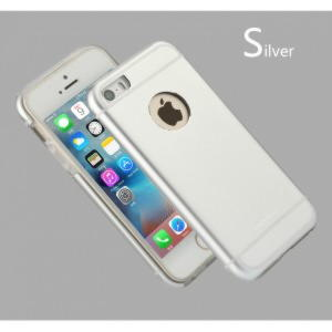 iPhone SE / 5 / 5S Usams Luxury Sailing Series Cover - Sølv