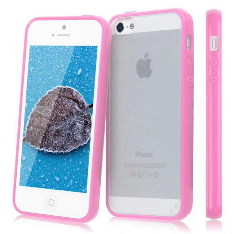iPhone 5 / 5S / SE Cover 2 in 1 - Lyserød