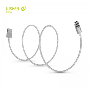 Wsken X-Cable Mini 2 Magnetisk Lightning Kabel - Sølv