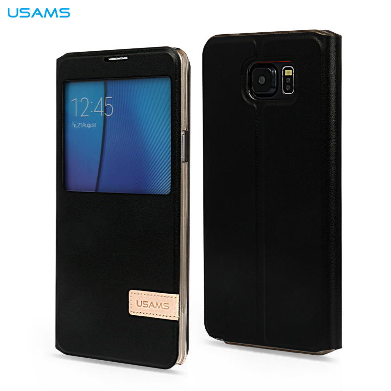 Samsung Galaxy note 5 Usams Muge Series View Cover - Sort