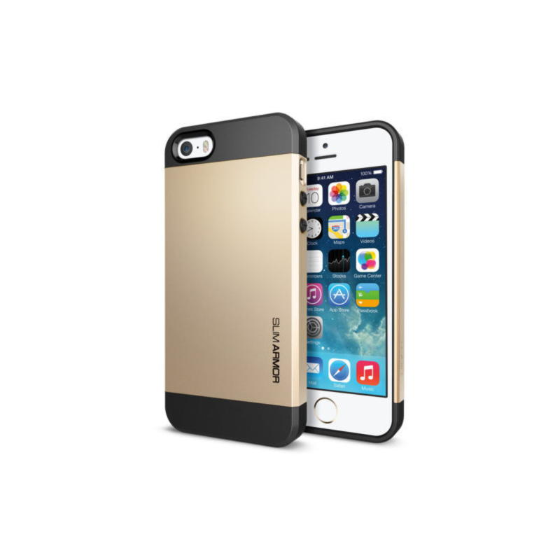 iPhone 5, 5S Og iPhone SE Slim Armor Cover - Guld