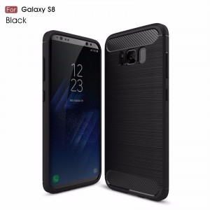 Samsung Galaxy S8 Carbon TPU Cover - Sort