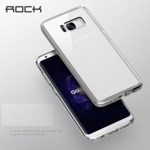 Samsung Galaxy S8 Rock Pure Series TPU+PC Cover - Transparent