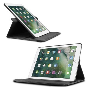 "iPad Pro 10.5"" Læder Cover 360 Grader - Sort"