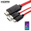 HDMI Adapter Til Samsung Enheder - Galaxy S3 / S4 / S5 / Note 2 / 3