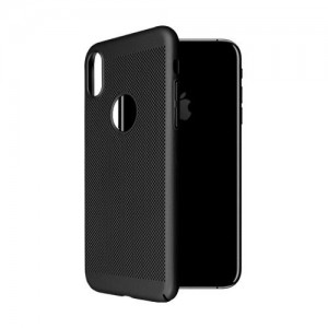 iPhone X OKKES Faceplate Through Serie TPU Cover - Sort