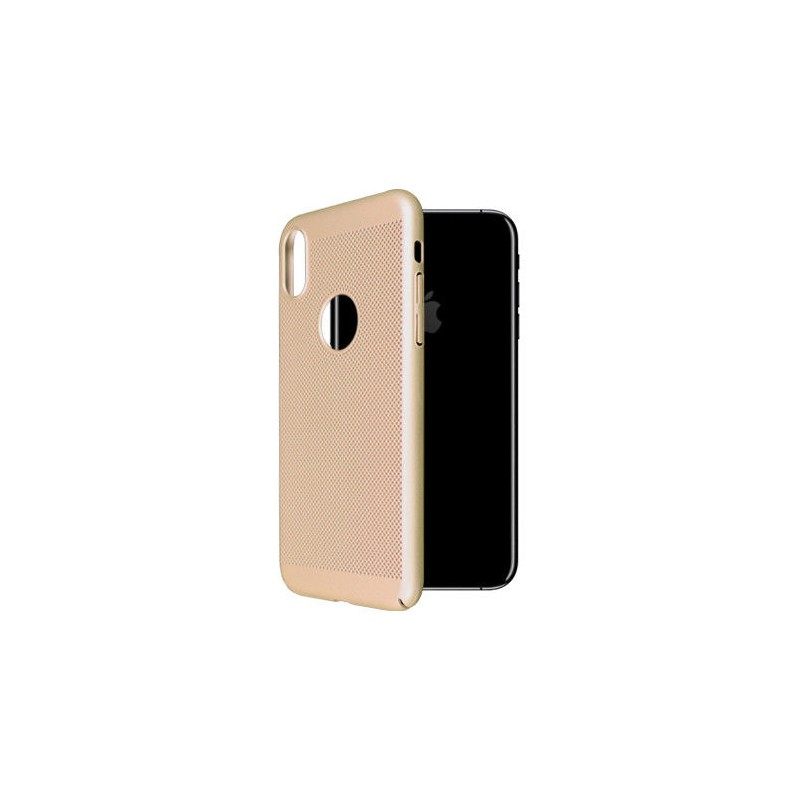 iPhone X OKKES Faceplate Through Serie TPU Cover - Guld
