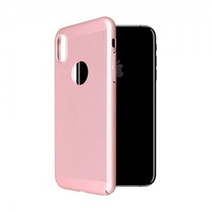 iPhone X OKKES Faceplate Through Serie TPU Cover - Pink