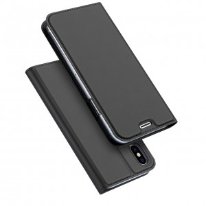 iPhone X DUX DUCIS Skin Pro Series Læder Cover - Blå