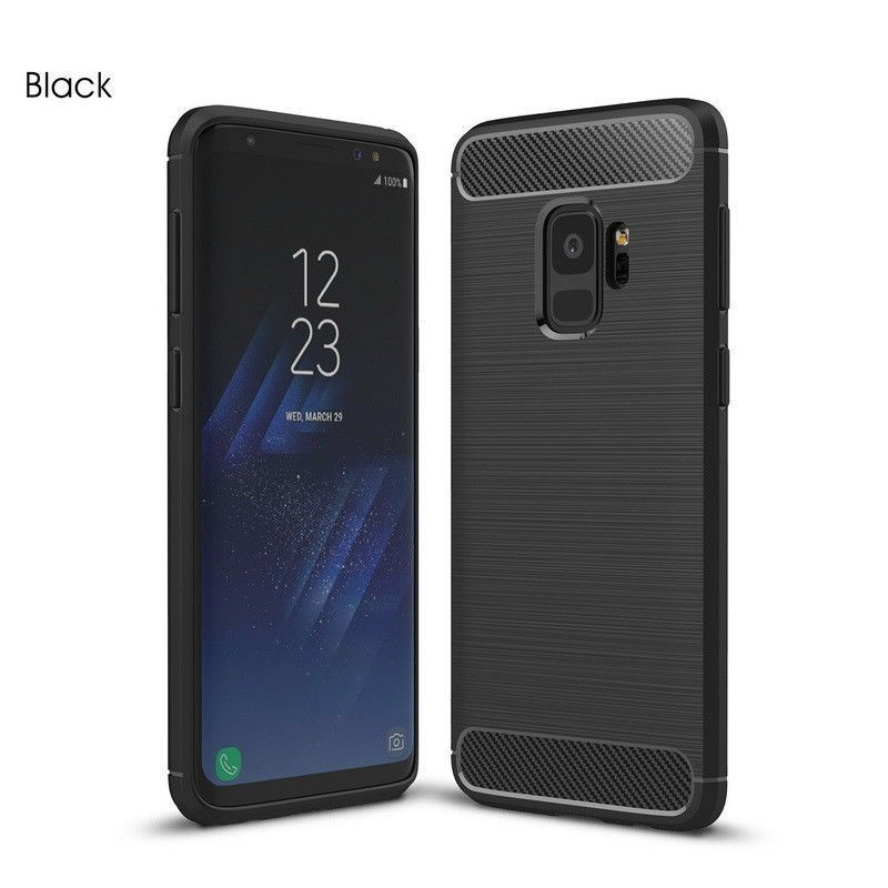 Samsung Galaxy S9 Plus Carbon TPU Cover - Sort