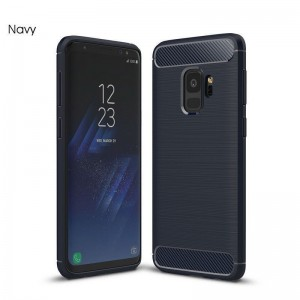 Samsung Galaxy S9 Plus Carbon TPU Cover - Grå