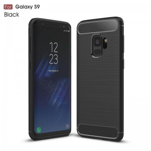 Samsung Galaxy S9 Carbon TPU Cover - Sort
