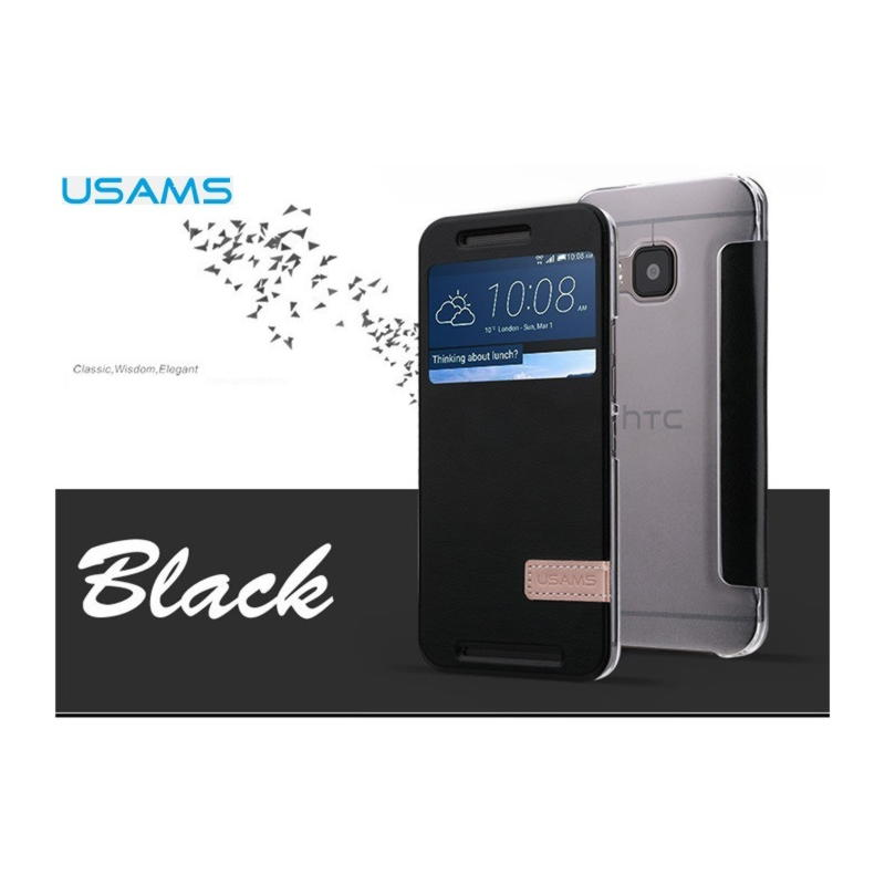 HTC One M9 Usams Muge Series Cover - Sort