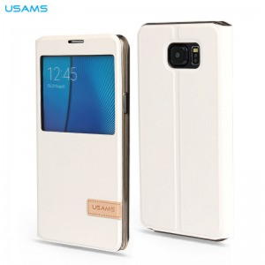 Samsung Galaxy note 5 Usams Muge Series View Cover - Hvid