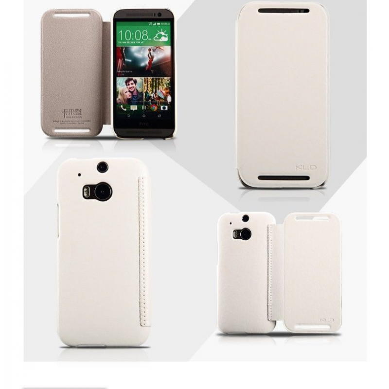 HTC One M8 KLD Enland Series Cover - Hvid