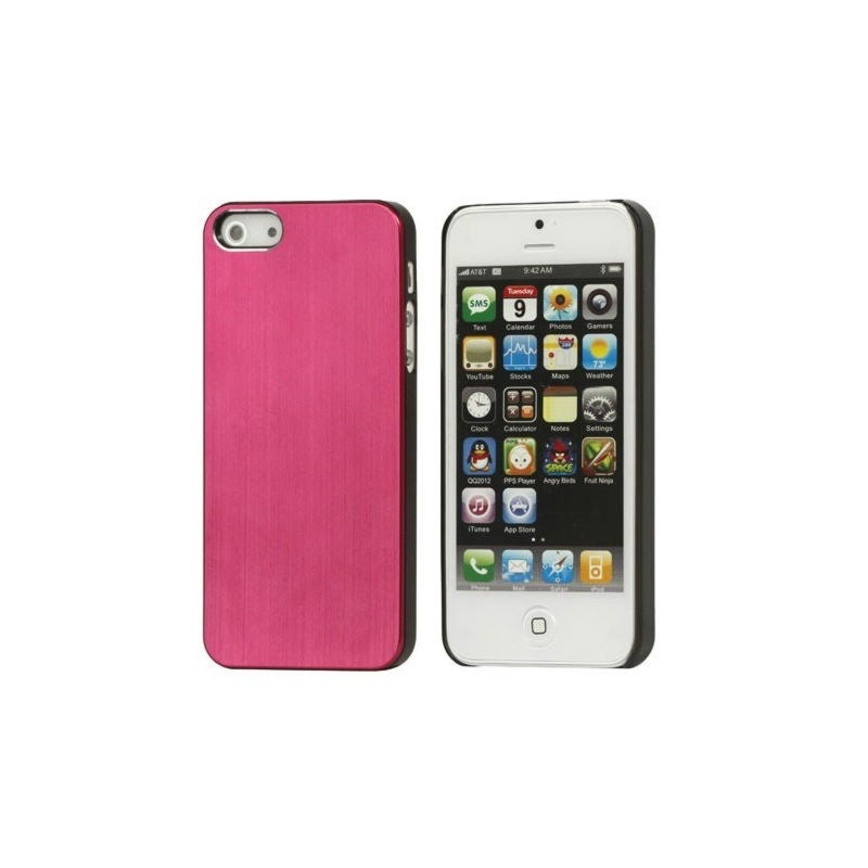 iPhone 5 / 5S / SE Brushed Metal Cover - Rød