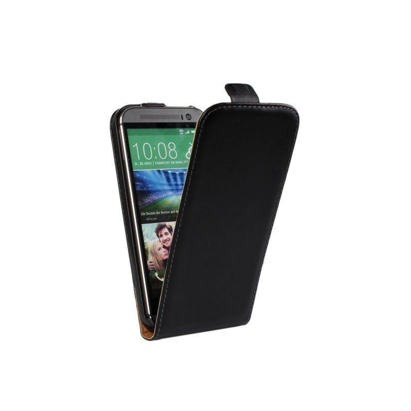 HTC One M8 Flip Læder Cover - Sort