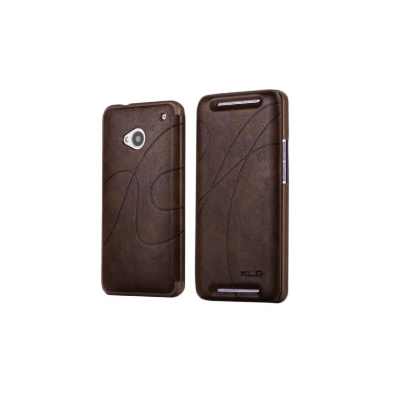 HTC One M7 KLD Oscar Series Cover - Brun