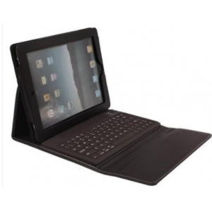 iPad 2, 3 og iPad 4 Dansk Bluetooth Tastatur Med Cover - Sort