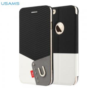 iPhone 6 Usams IU Series Cover - Sort / Hvid