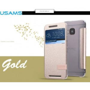 HTC One M9 Usams Muge Series Cover - Guld