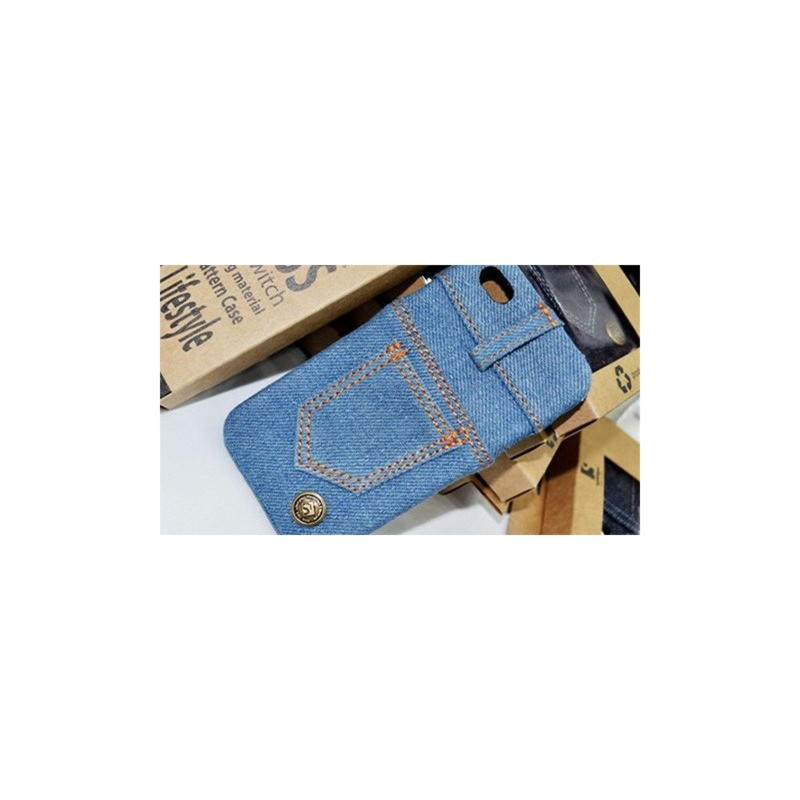 iPhone 4 / iPhone 4S Jeans Cover - Blå