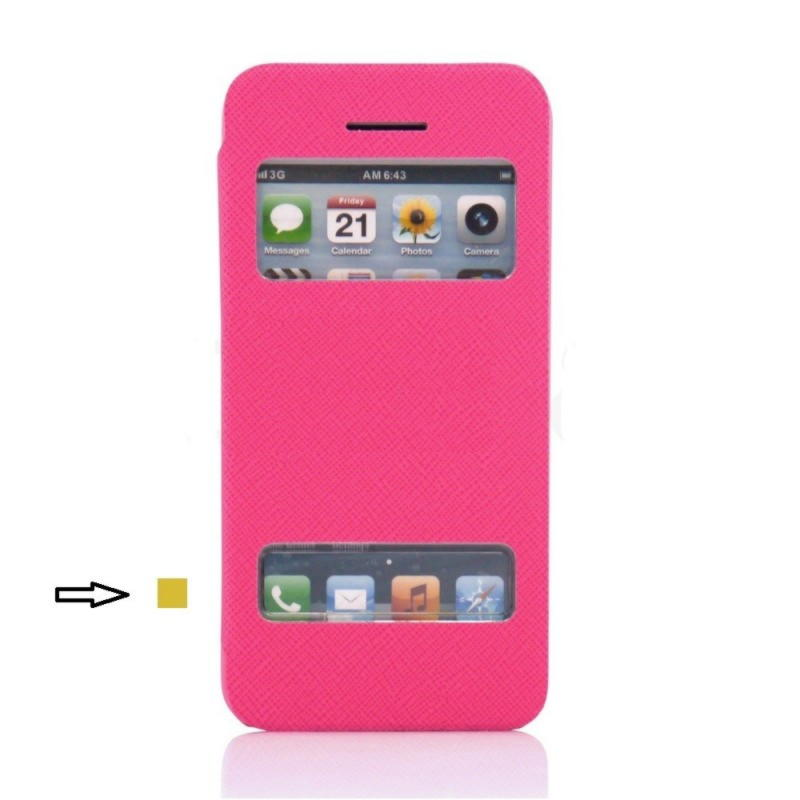 iPhone 5c View Cover - Pink