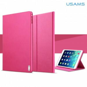 iPad Air 2 Usams Geek Series Smart Stand Cover - Lyserød